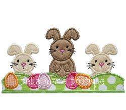 Easter Border Applique - 2 Sizes! | Easter | Machine Embroidery Designs | SWAKembroidery.com Bella Marie Boutique