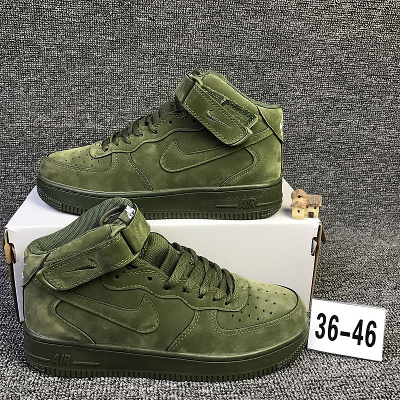 brand new 8fdd6 12702 Nike Air Force 1 Mid High Olive Green