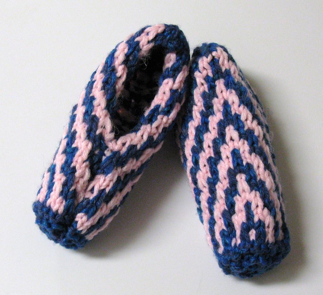 Chaussons à motif zèbre - violet - femme KYh8TLM
