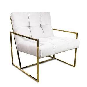 Santorini Chair in Cream Velvet