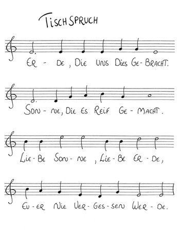 Tischspruch   Lieder An Der Waldorfschule