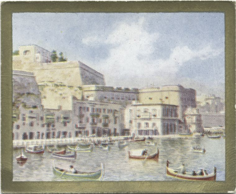 Malta. A View of Valetta. From New York Public Library Digital Collections.