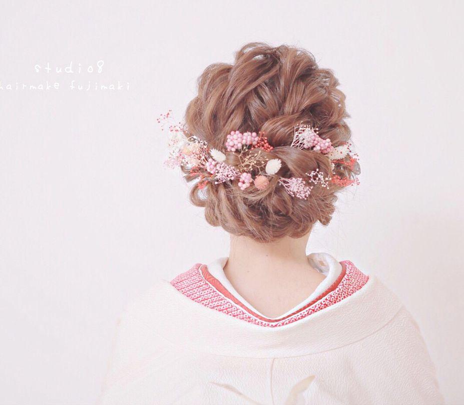 最新版 花嫁の髪型 インスタで話題のイマどきヘアスタイル100選 ウェディング ヘアスタイル 色打掛 髪型 アップ ブライダル 髪型