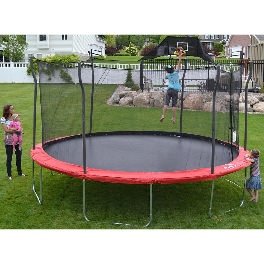 15 Ft Enclosed Trampoline Fun All The Way To The Sky From