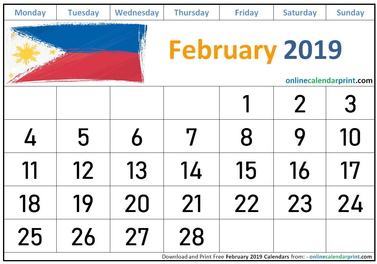 February 2019 Calendar Philippines 2019 Calendar Calendar