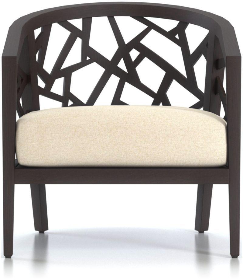 Ankara Truffle Frame Chair with Fabric Cushion + Reviews