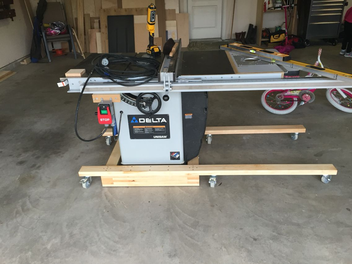 Table Saw Mobile Base Table Saw Contractor Table Saw Farmhouse Dining Table