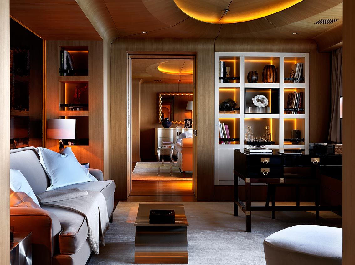 5 Living Rooms That Prove The Power Of Symmetry: Numptia Luxury Yacht- Living Room.... Pure Luxury, Finally