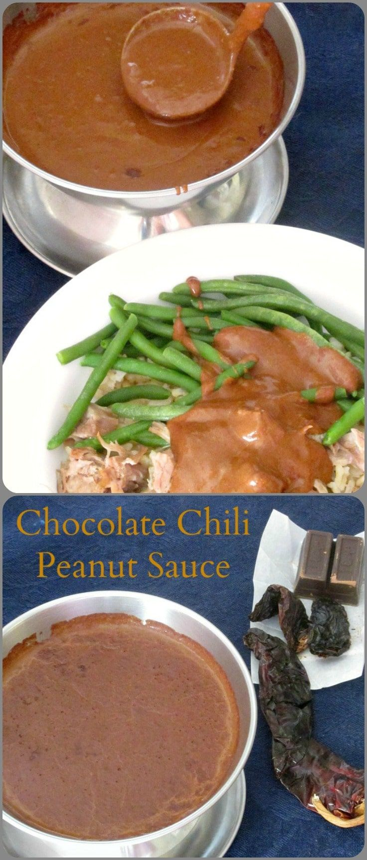 Chocolate Chili Peanut Sauce Recipe Condiment recipes