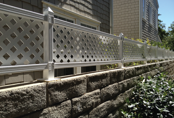 This piece of fencing actually goes on top of a fence. It's considered a lattice accent and it helps add some style and a little bit more height to any regular fence, which can be great if you're not quite happy with where you are.