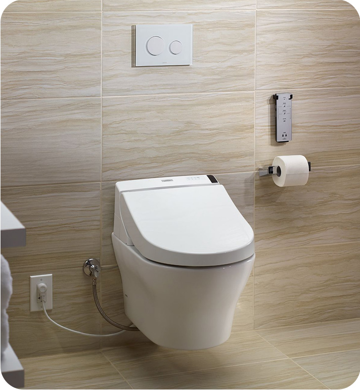 Toto Cwt4372047mfg 4 01 Mh Wall Hung One Piece D Shape Washlet