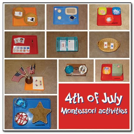 4th of July Montessori activities from Gift of Curiosity