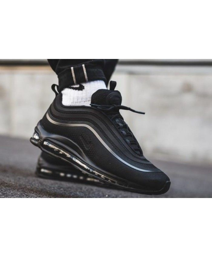 0ad6f786e41b2 Nike Air Max 97 Ultra Triple Black Trainers will give you the most  comfortable experience and you will like its good look!