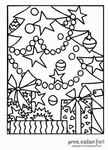 Christmas Cards To Print And Color Christmas Tree With Decorations P Christmas Tree Coloring Page Crayola Coloring Pages Printable Christmas Coloring Pages