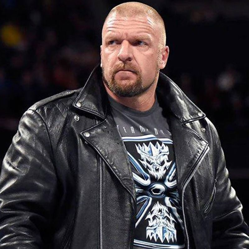 WWE Triple H Real Black Biker Leather Jacket Up To 50% Off