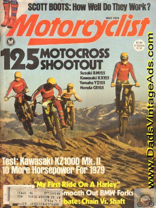 1979 125 Motocross Shootout Suzuki Rm125 Kawasaki Kx125 Yamaha