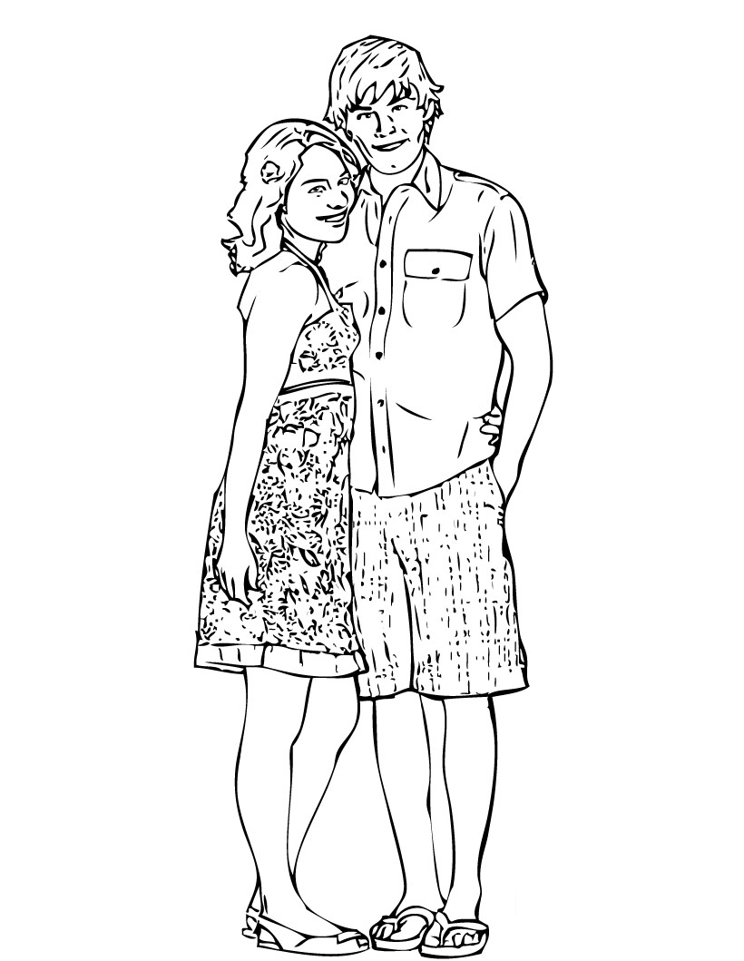 high school musical coloring pages  high school musical 3