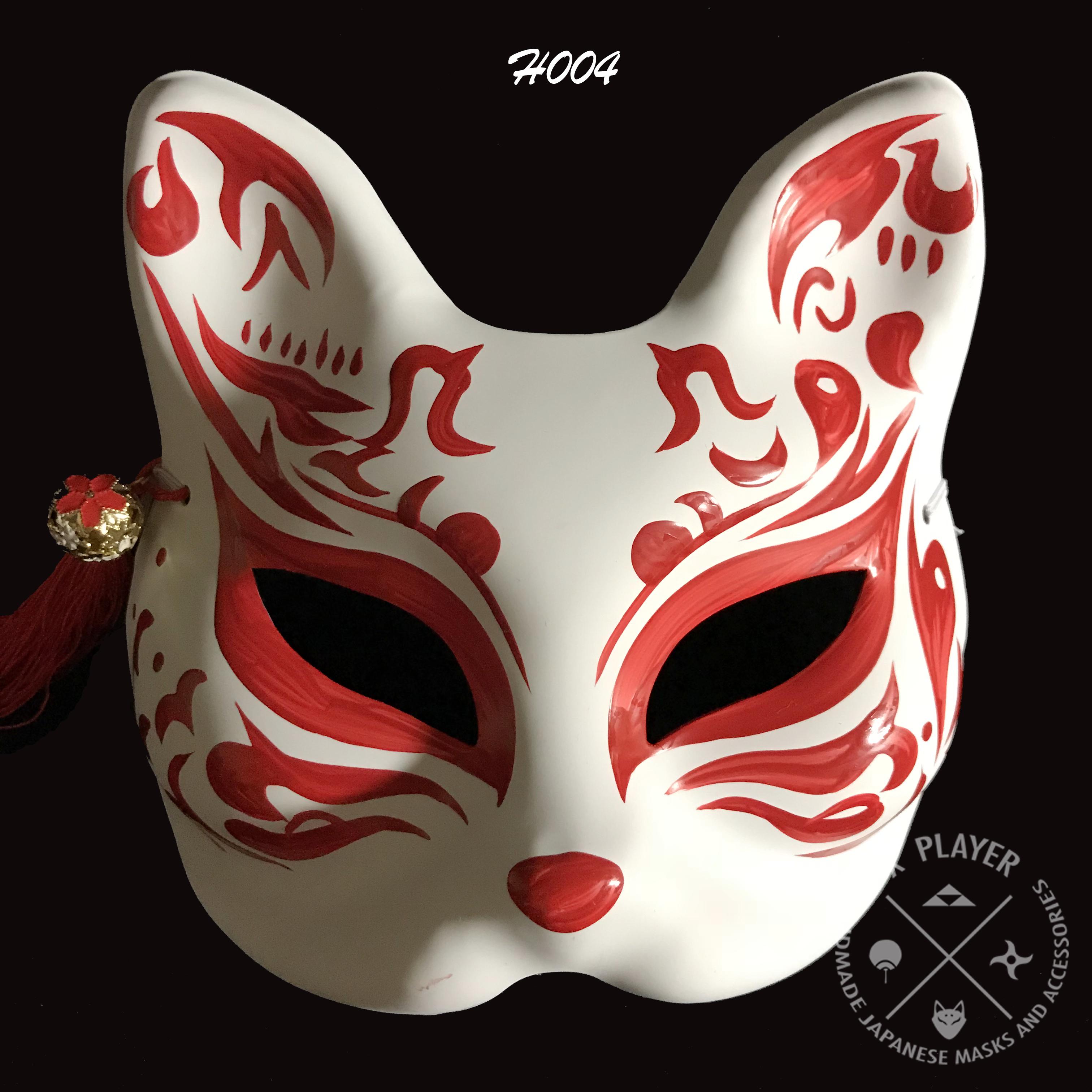 Half Face Kitsune Mask The Evil Kitsune Mask Kitsune Japanese Fox Mask