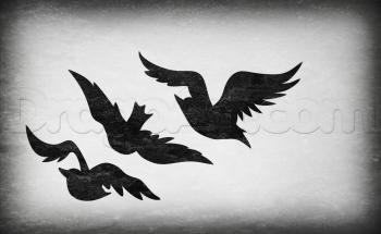 how to draw divergent tris birds tattoo | Cool drawings ...