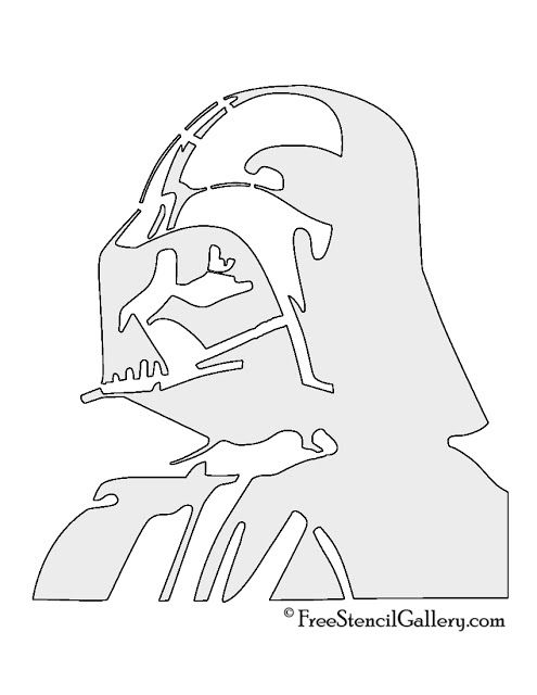 star wars pumpkin stencils carving pattern outline free printable - Pochoir Dark Vador