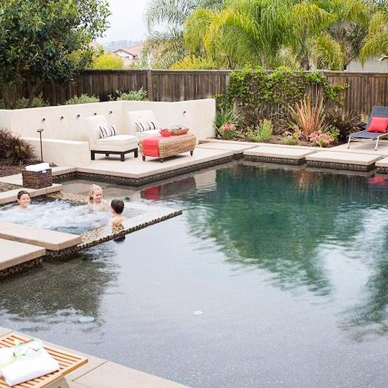 Pool And Spa Ideas Garden Pool Design Backyard Spa Backyard