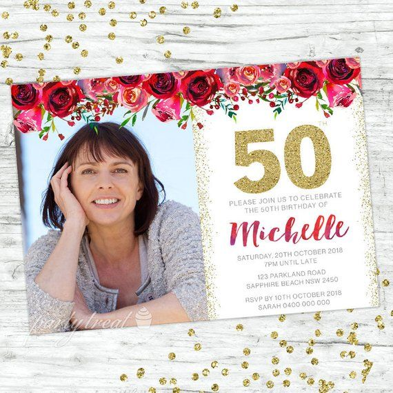 Personalised 50th Birthday Invitation