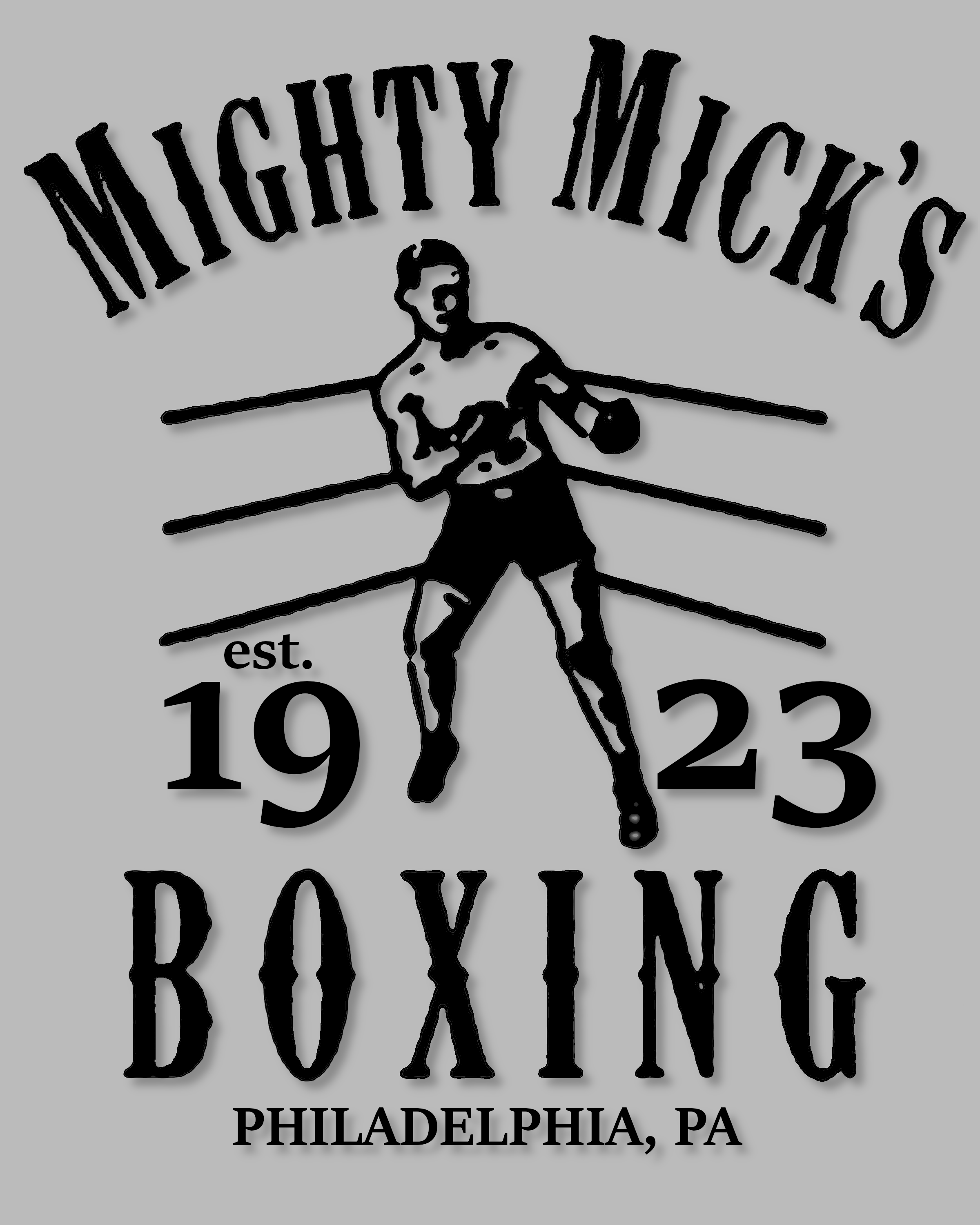 Mighty Mick/'s Gym Mens Funny Rocky Hoodie Balboa Boxing Boxer MMA Training Top