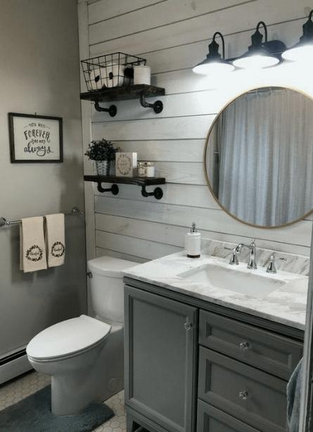 25 Inspirational Lighting Decoration For Bathroom #bathroomdecorationideas #eweddingmag #HomeDecorationIdeas #HomeDesign #apartmentbathroomideas
