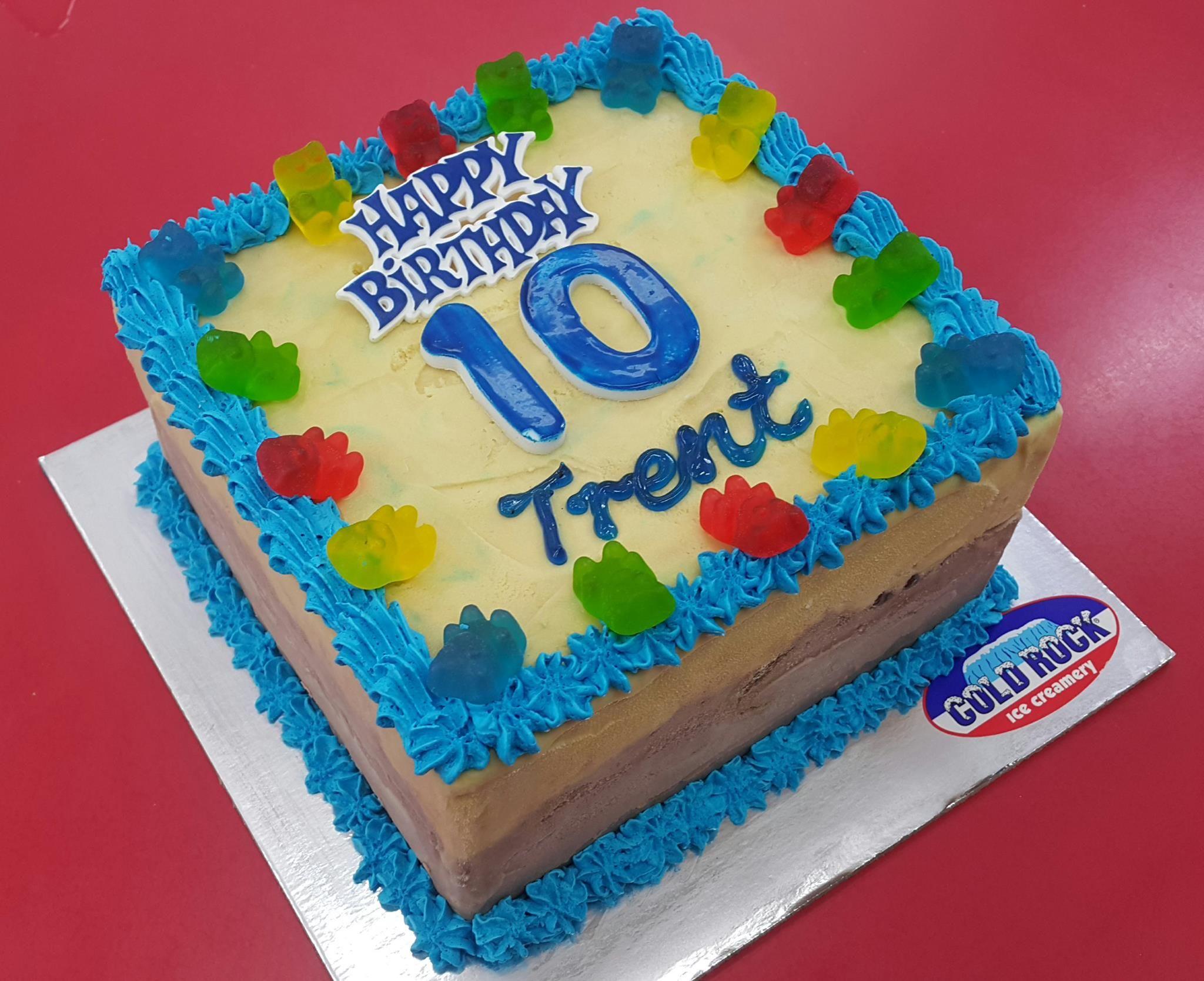 Cold Rock Ice Cream Birthday Cake Made Fresh In Store In Celebration