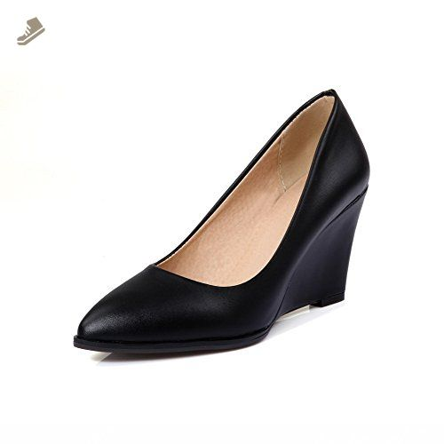 Women's Pull On High Heels PU Solid Pointed Closed Toe Boots