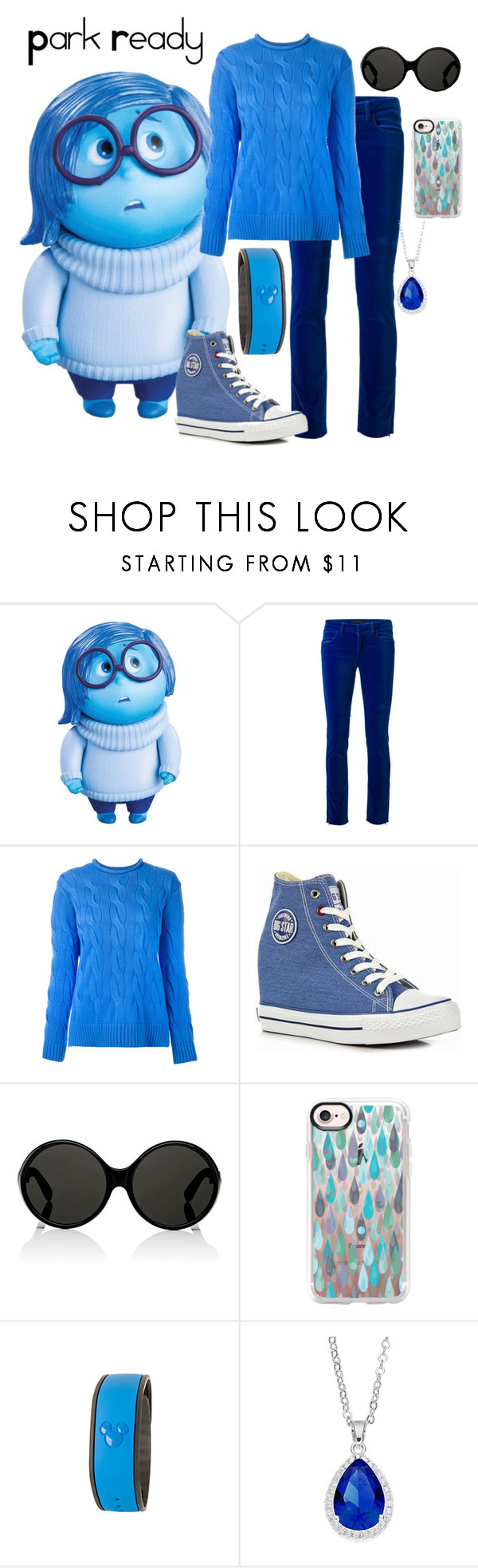 """Sadness~Disney Bound"" by snowdragon2024 ❤ liked on Polyvore featuring Disney, Victoria Beckham, Polo Ralph Lauren, Big Star, Yves Saint Laurent, Casetify and City Rox"