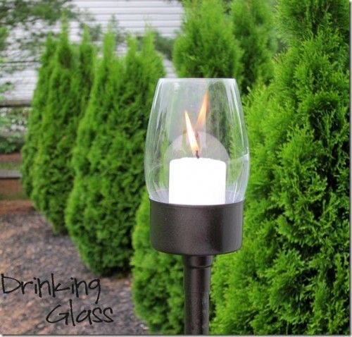 I Have A Million Old Cheap Glass Vases And Glasses I Can Make Into Lanterns  For. Outdoor Candle ...