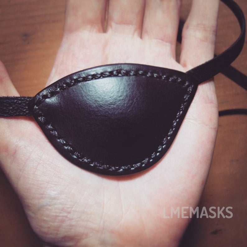 Black Leather Eye Patch Eyepatch Slade Wilson Deathstroke Arrow Pirate Cosplay Gothic Halloween Carnival Franky Cook Angelina Jolie Party Parche Ojo Parche Ocular Parches