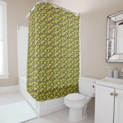 Hipster Shower Curtain Lemon Pattern