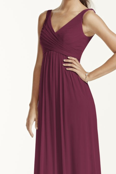 ca1f09a2196 Long Mesh Dress with Cowl Back Detail F15933 in WINE