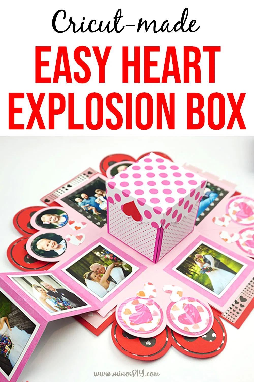 Easy Starter Heart Exploding Box in 2020 Diy gift box