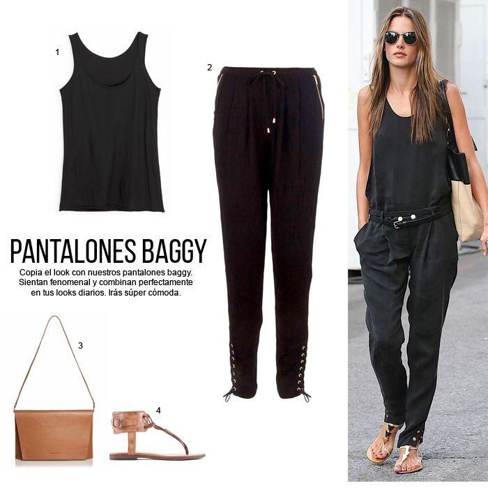 selección premium 06bda b0577 4-pantalones-baggy   Ropita   Fashion, Womens_fashion, Black ...