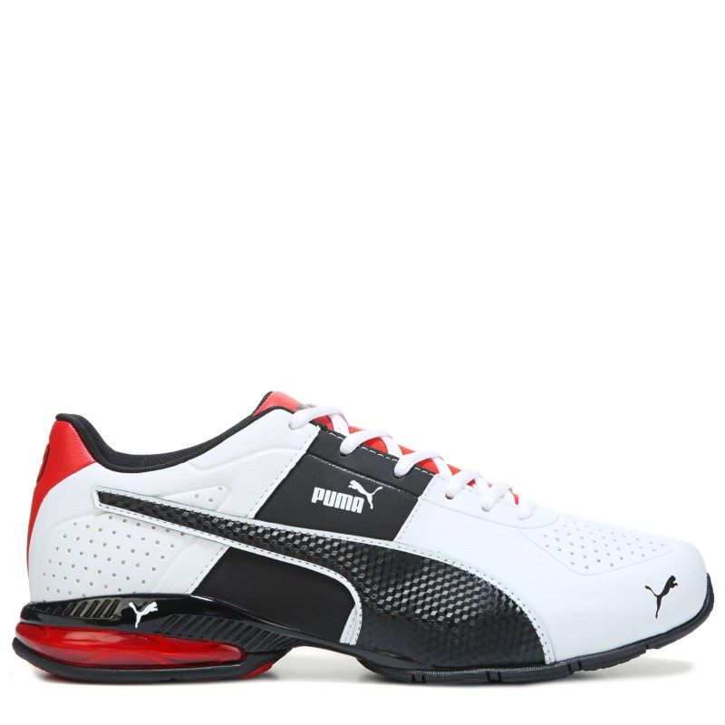 official photos 0499a ec844 Puma Men s Cell Surin 2 Running Shoes (White Black Red) - 12.0 D