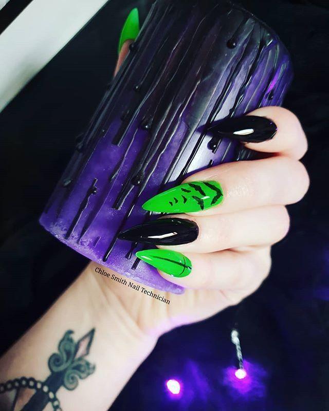 60+ Halloween Nail Art Ideas in 2020 | Goth nails ...
