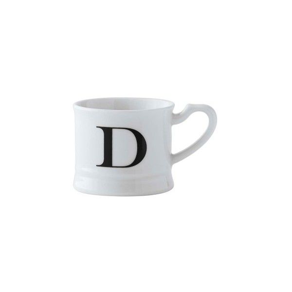 Williams Sonoma Monogram Espresso Cup 22 Sar Liked On Polyvore