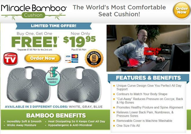 Miracle Bamboo Cushion Is Advertised As The Worldu0027s Most Comfortable Seat  Cushion. Read Our Miracle