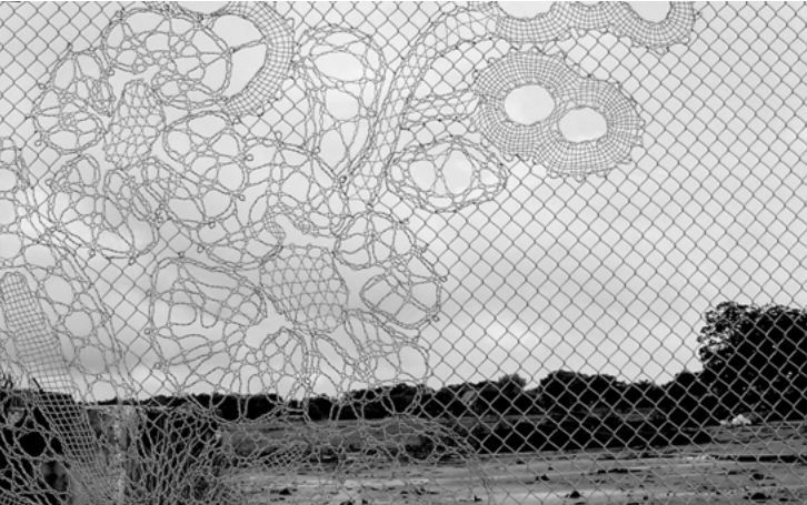 Knitting Chain-Link Fencing Into a Work of Art | Chain link fencing ...