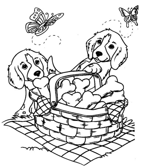 Dogs Party Bone Coloring Page Dog Coloring Page Puppy Coloring