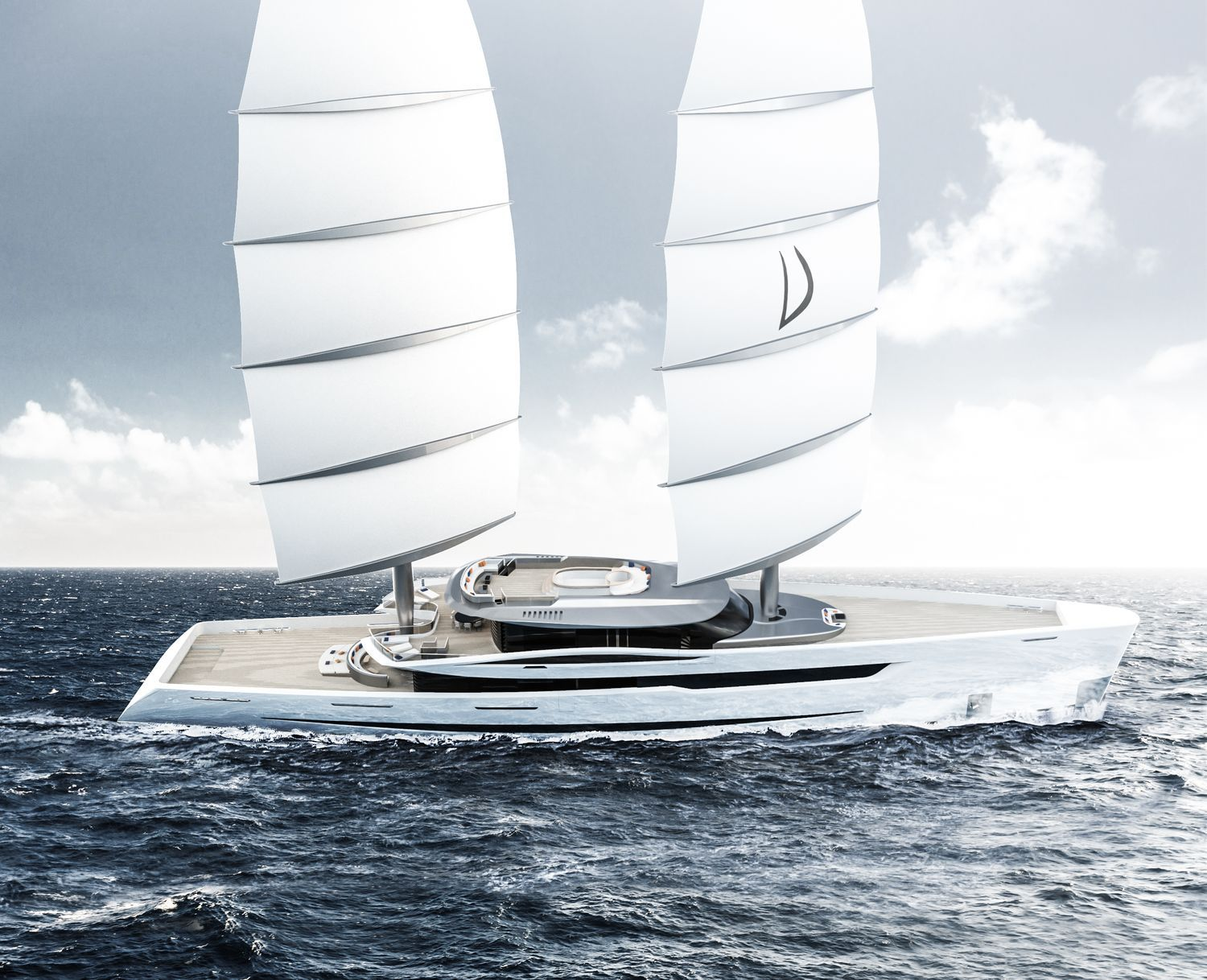 VELA Yacht (80m) by Gianmarco Cardia with DynaRig   Yachts
