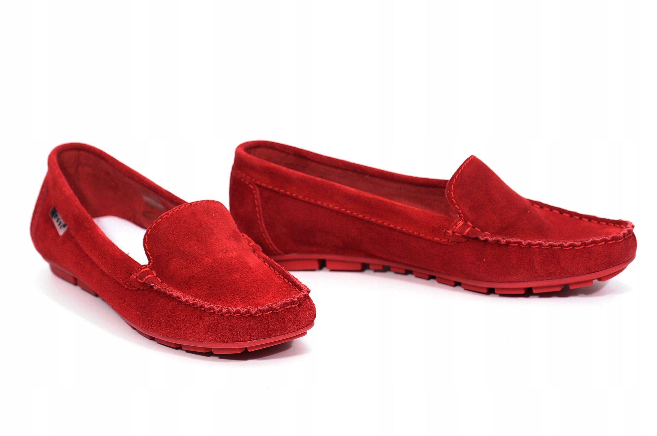 Mokasyny Nessi 17130 Czerwony 19 Rozmiar 40 Loafers Shoes Fashion