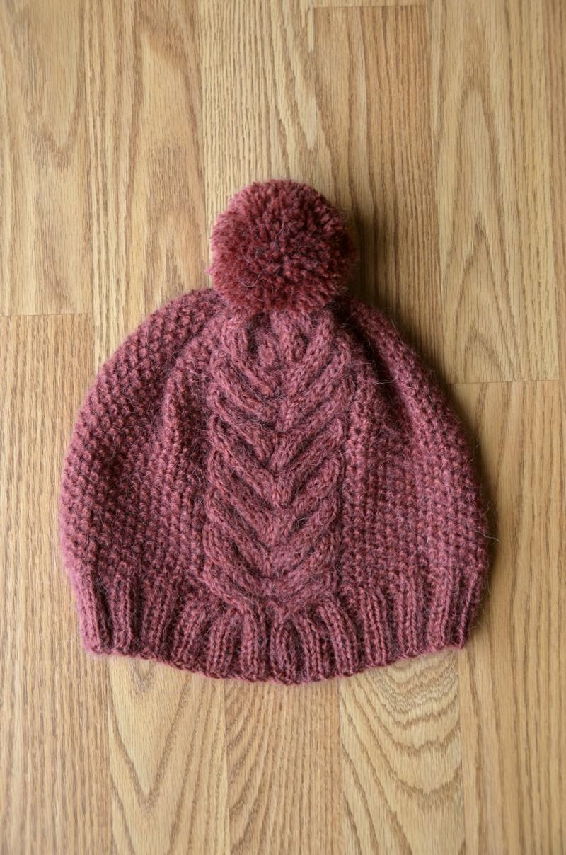 Fast and easy victory hat knit with just one ball of universal designed by universal yarn design team size adult medium seed stitch cable panel and pom pom find the free pattern here link pattern pdf bankloansurffo Image collections