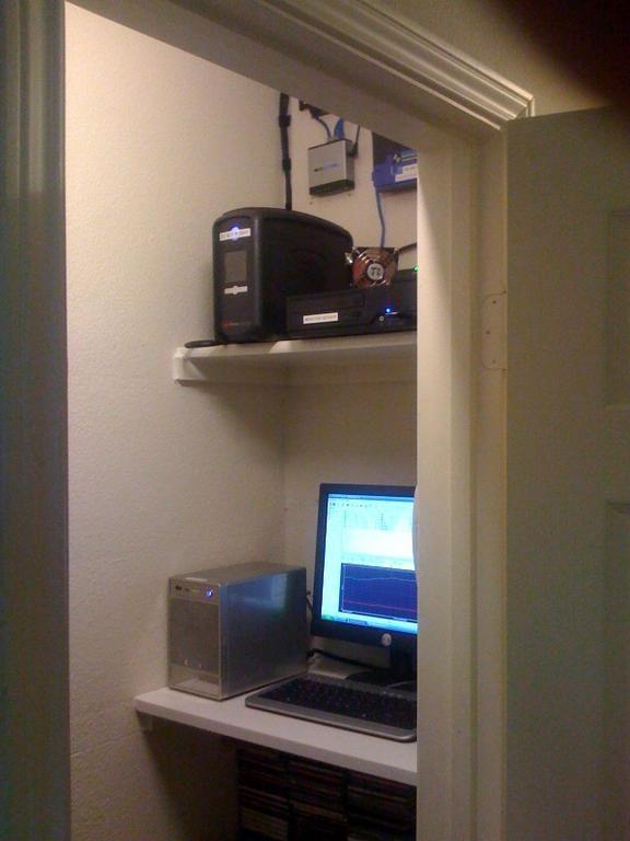 Media Closet Setup W/venting System