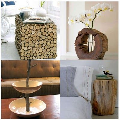 Decorar con troncos ideas Pinterest Troncos, Madera y Reciclado