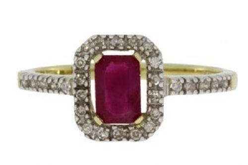 .90ct Ruby Diamond Ring