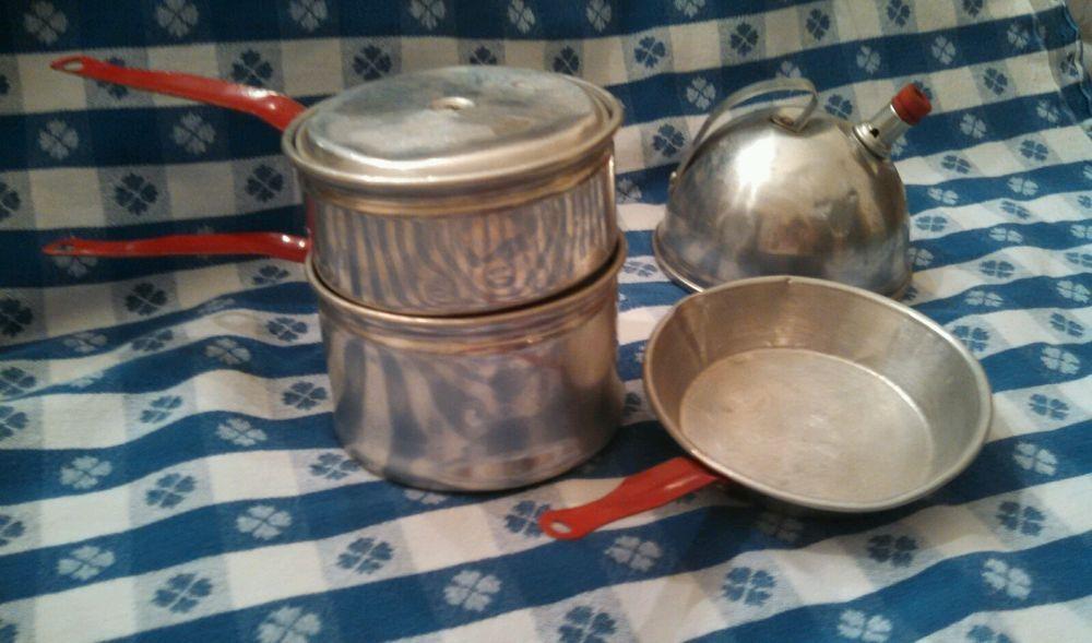 ~ Vintage Children's Toy Aluminum Cookware ~ Whistling Tea ...